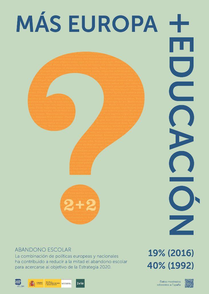 Más Europa, más educación